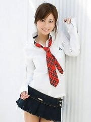 Cute Japanese girl posing in her outfit